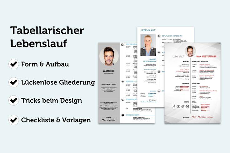 Perfekter tabellarischer Lebenslauf ✔ Detaillierte Anleitung & Beispiele ✔ Kostenlose Designs & Word-Vorlagen zum Herunterladen ✔ Checkliste: Das muss rein ✔