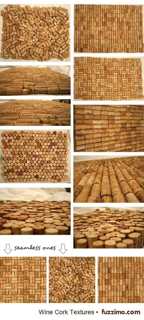 I would love to do a wall just covered in corks... too bad I'm not a big wine drinker.