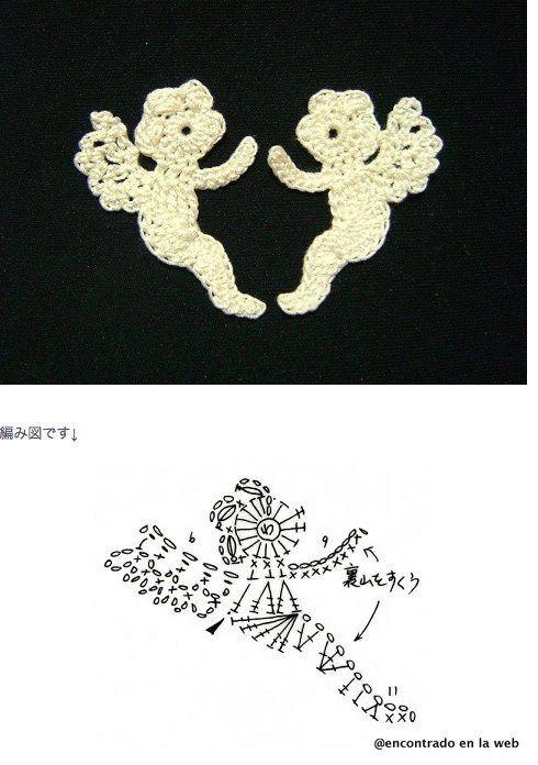 Mejores 81 imágenes de angeles crochet en Pinterest   Patrones de ...
