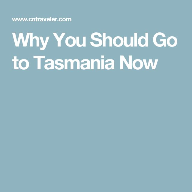 Why You Should Go to Tasmania Now
