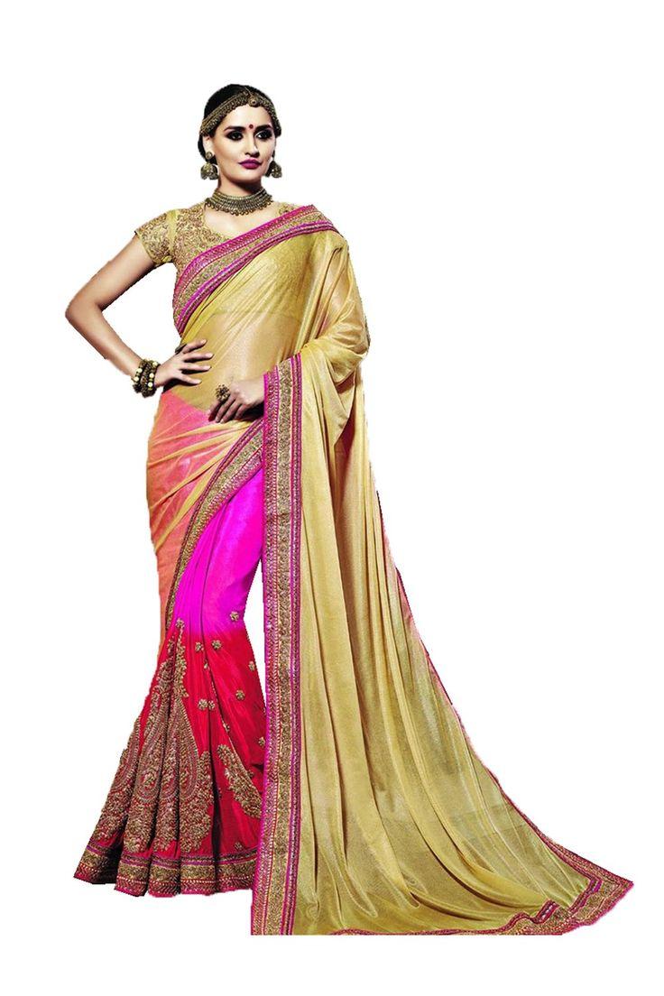 Color multi colour fabric silk work heavy embroidery work