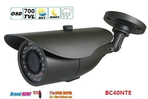 BW® Sony Überwachungskamera / CCTV-Kamera, 1/3 Zoll, 700 TVL, IP66 wetterfest/wasserdicht, mit Zoom-Funktion 36IR (bis zu 55 m), CCD-Sensor, manuellem Zoom, einstellbarem Objektiv (2.8 mm~12 mm), Fokus und Zoom, OSD-Menü, für den Innen- und Außenbereich, inkl. Halterung - http://kameras-kaufen.de/bw/bw-sony-berwachungskamera-cctv-kamera-1-3-zoll-700