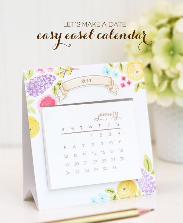 Let's Make A Date: Easy Easel Calendar - damask love