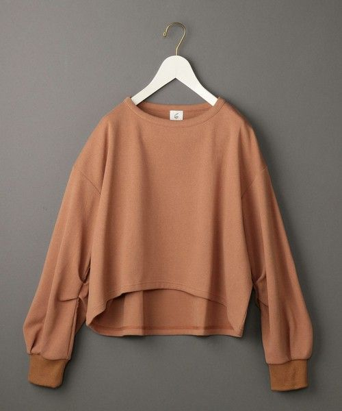 BEAUTY&YOUTH UNITED ARROWS(ビューティアンドユースユナイテッドアローズ)の「<6(ROKU)>DOUBLE FACE PULLOVER/カットソー(Tシャツ/カットソー)」|ベージュ