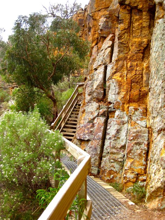 Falcon's cliff lookout. Werribee Gorge.