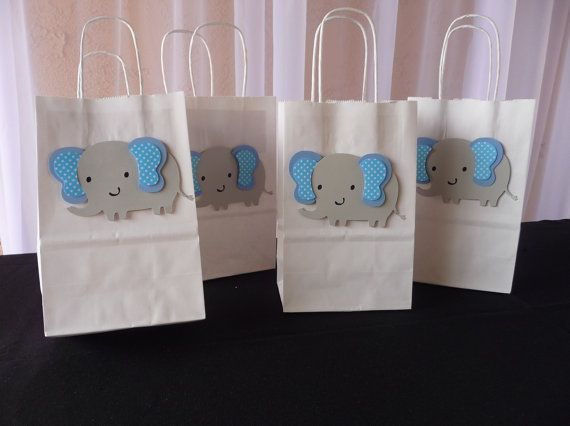 Elephant Party Favor Bag Elephant Party by CreationsCuadraHauck