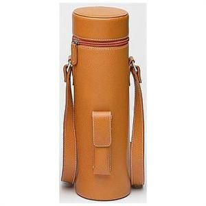 The Leather Wine Tote is a genuine leather (cowhide) single bottle wine tote. The Enclave Leather Wine Tote in brown is a  small, lightweight, and very trendy wine carrier.