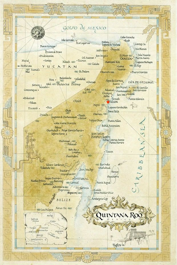 10 best ideas about tulum mexico map on pinterest tulum