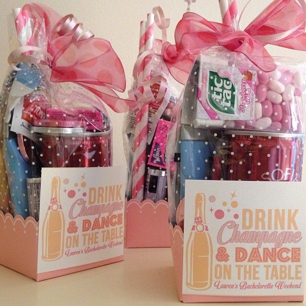 "Bachelorette ""Survival Kits"" - fun idea for a ladies weekend getaway."