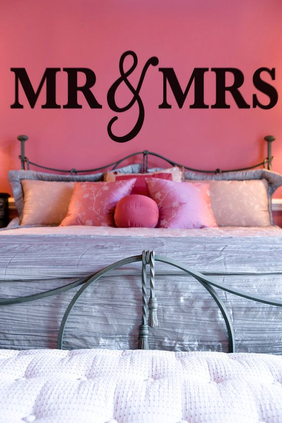 Mr & Mrs Wall Signs for Over Bed Headboard by Z Create Design on Etsy | www.zcreatedesign.com