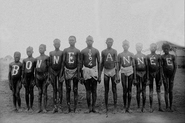 une carte postale prises en français du Moyen-Congo en 1904