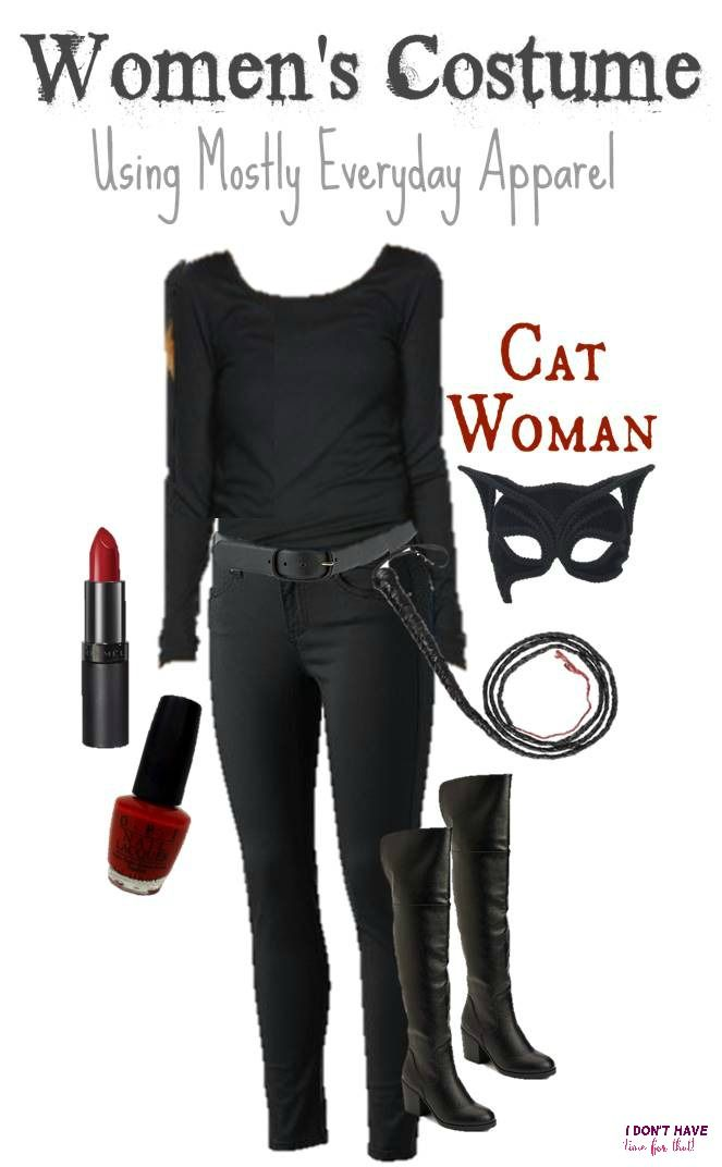 This might be the easiest Cat Women Halloween costume you ever put together!