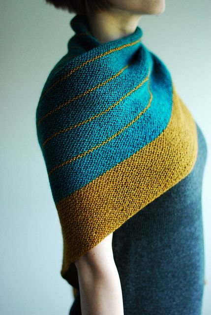 Striped Study Shawl...love the colors