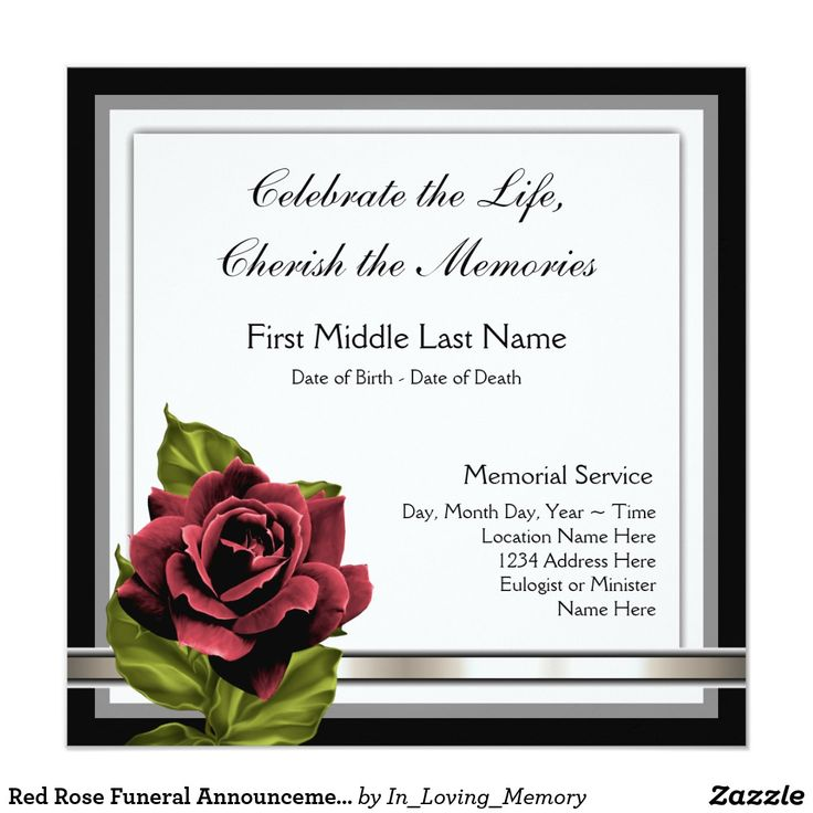 17 best Memorial images on Pinterest Advertising, Templates and - memorial service invitation template