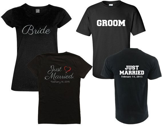 Married Since Year Mr. and Mrs. Shirt Set - Outlined Number - Customize the Date and Colors -- Anniversary Shirts - Wedding Gift O8Hpn