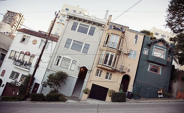 San Francisco Tilt by Andrew Tomayko: Filbert Street #Photography #San_Francisco #Andrew_Tomayko #Filbert_Street