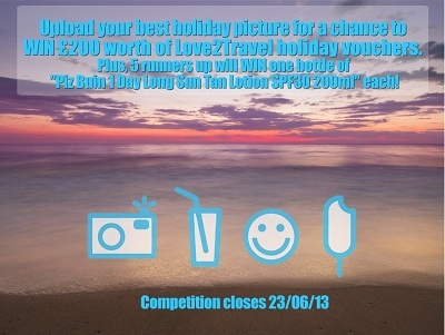 Win £200 Love2travel Vouchers + 5 runner up prizes in our latest Facebook Comp - enter here http://www.carrentals.co.uk/blog/love2travel-photo-contest.html.  Comp ends Sunday 23/06/13