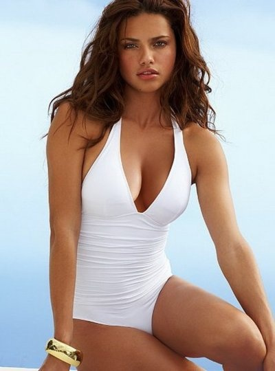 """Terrific swim suit! ! !"" modeled by Adriana Lima"