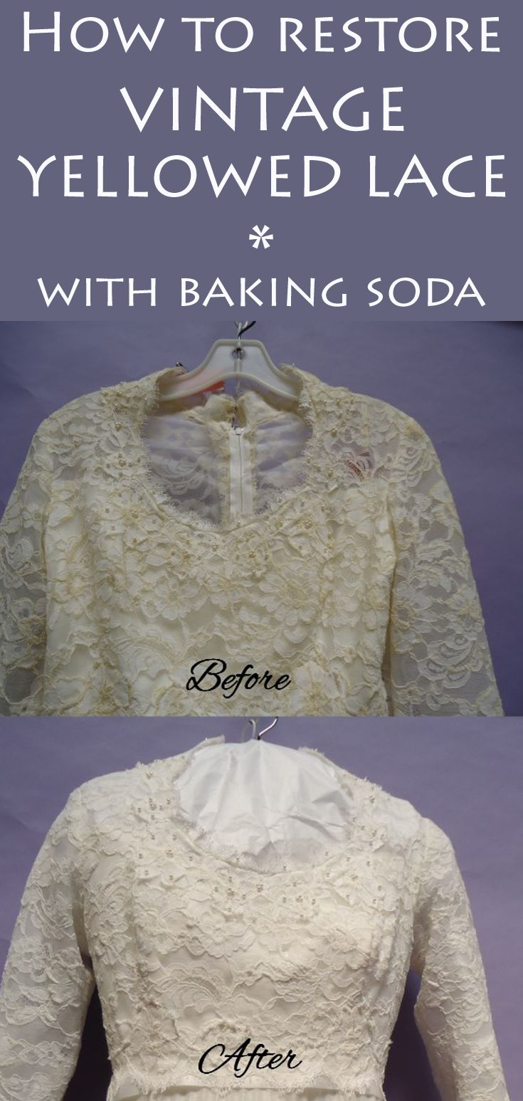 How to restore vintage yellowed lace with baking soda