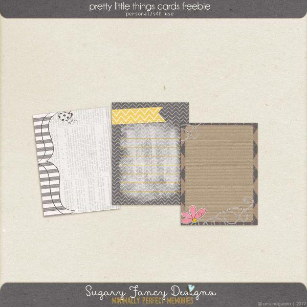 Pretty Little Things journaling cards freebie from Sugary Fancy Designs #scrapbook #digiscrap #scrapbooking #digifree #scrapScrapbook Digiscrap, Digiscrap Scrapbook