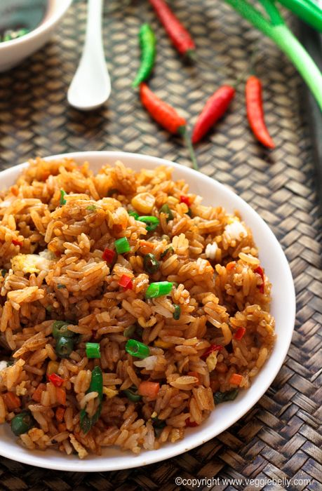 Egg Fried Rice. Yummier than take out! | Veggie Belly | Vegetarian Recipe