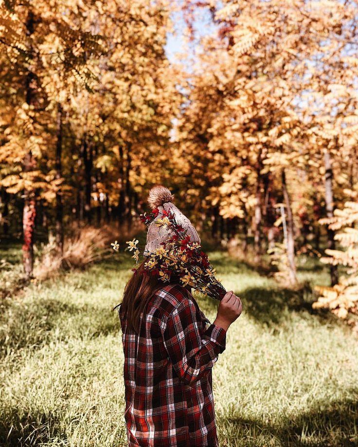 Classic Plaid Shirt Under Autumnal Leaves
