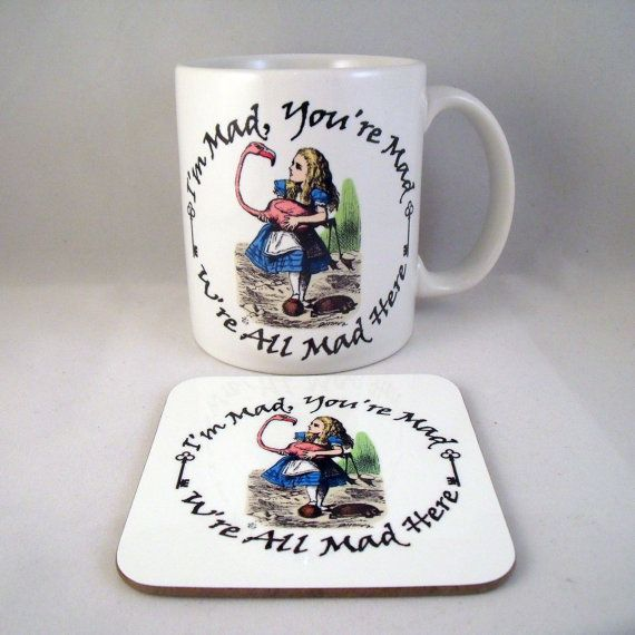 Alice In Wonderland Mug Alice  Coaster  Cup  by PurplePandaPrints
