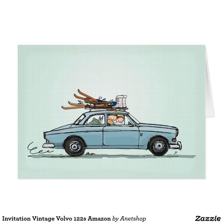Invitation Vintage Volvo 122s Amazon