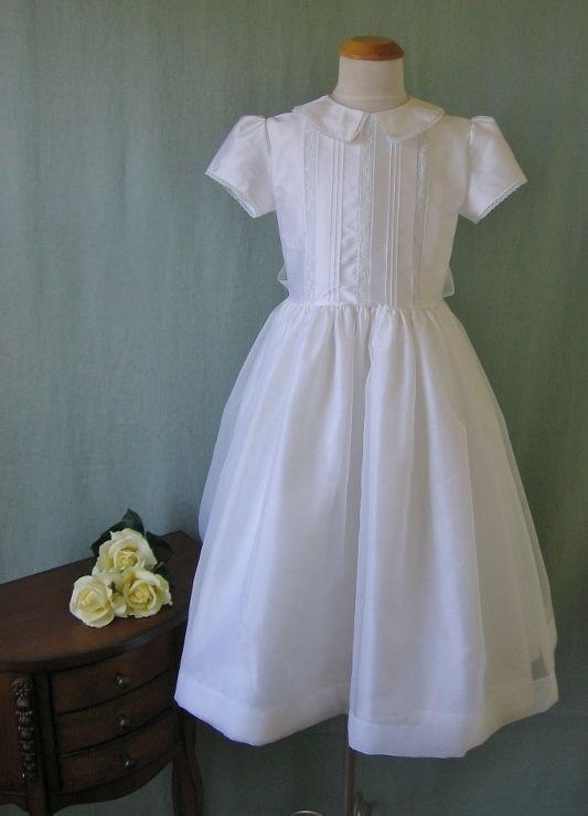 Silk First Communion Dress - Kathleen - Communion Heirlooms