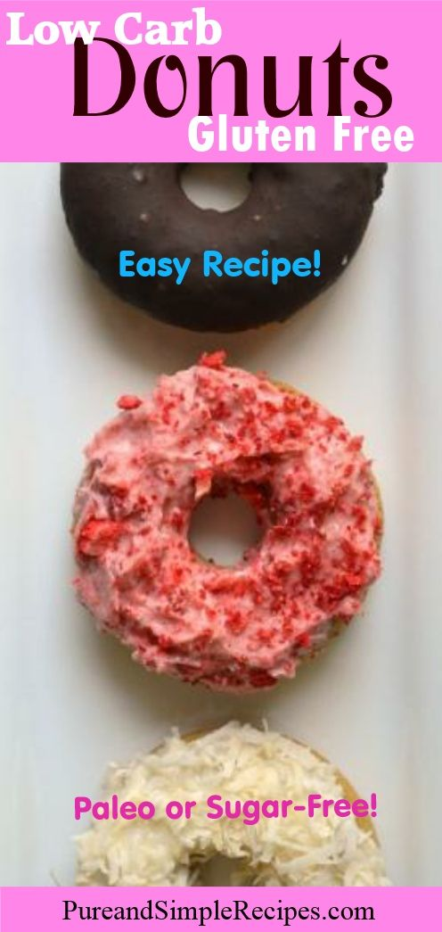 These Low Carb Donuts are gluten free and as crave-worthy as any store-bought donut. This recipe is super easy to whip up for a weekend breakfast treat.