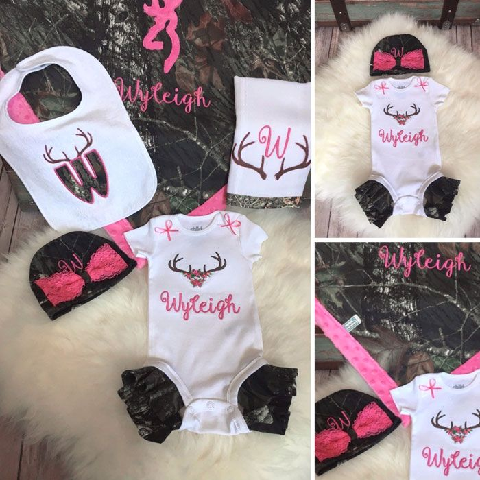 320 best camo kids images on pinterest personalized camo and pink baby gift set negle Image collections