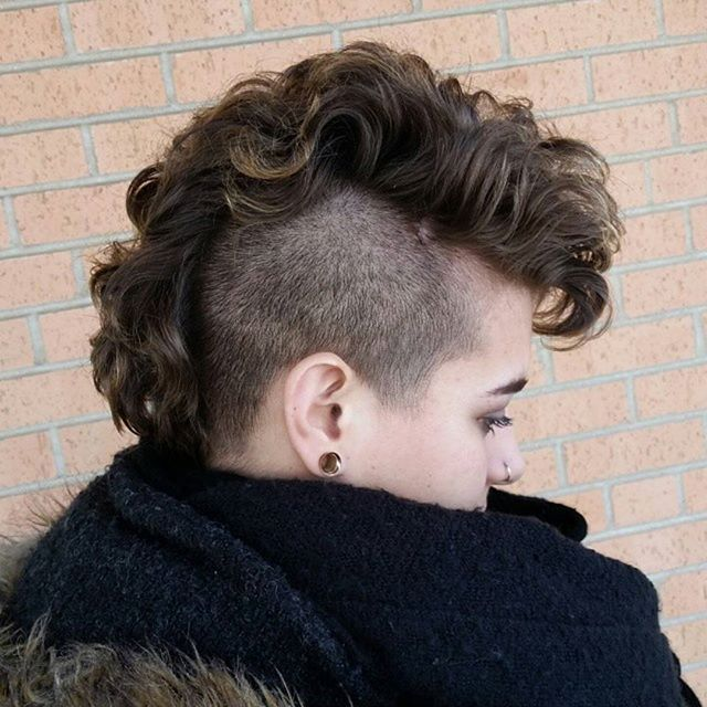 womens mohawk haircuts i permed mohawk gave it some curl and 5218