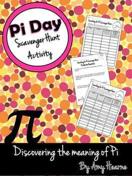 Pi Day, 3/14, is a celebration of the irrational number pi! March 14th is a great opportunity to teach your students about pi. In this activity students will search your classroom, the entire school or even their house to measure circular objects. There are two different worksheet options for the scavenger hunt: one that is open ended and one with specific options for students to find.