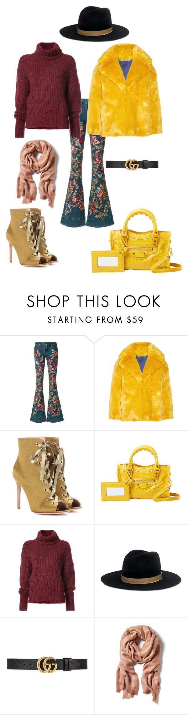 """Başlıksız #1088"" by gubse-oz ❤ liked on Polyvore featuring Alice + Olivia, Diane Von Furstenberg, Gianvito Rossi, Balenciaga, BY. Bonnie Young, Janessa Leone and Gucci"