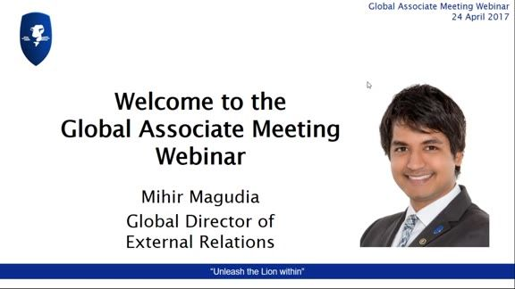 Recording of LEO Global Associate Meeting 24 April 2017 - Mihir Magudia, Global Director of External Relations led the presentation as Dan was on his way to Kuala Lumpur to welcome our Leaders. Mihir started by recognising our latest Director and our latest Marketing Director; updates on LEOcoin, LEOcrowd information, news coverage, update on training and events, incentives, and an update on the LEO Smart 3.0 app followed.  #eLearning #digitalcurrency #crowdfunding #prosperwithLEO