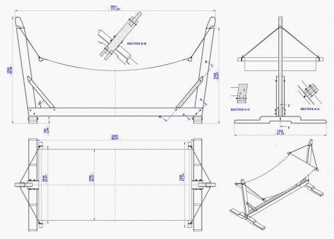 Garden hammock with stand plan | Hammock stand, Garden ...