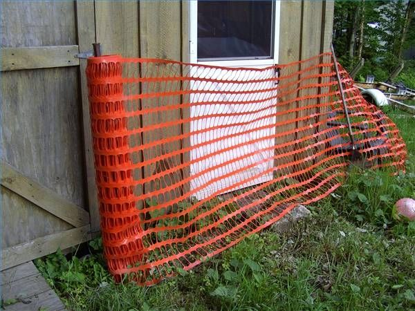 how to build a temporary fence