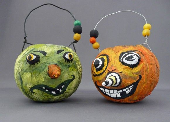 Make Crazy Papier Mache Pumpkins