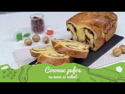 Reteta - Cozonac pufos cu nuca si rahat | Bucataras TV - YouTube