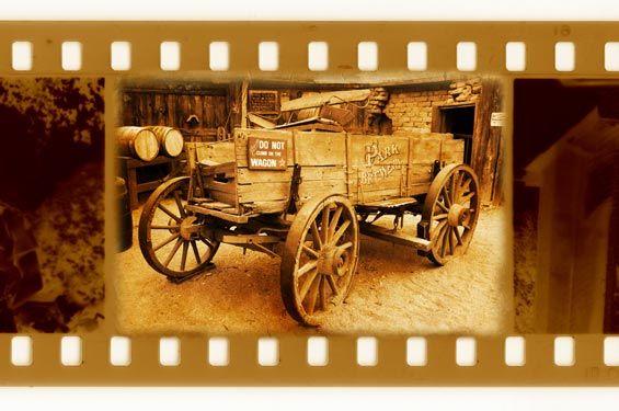 Καρέ φιλμ με παλιό κάρο | Vintage