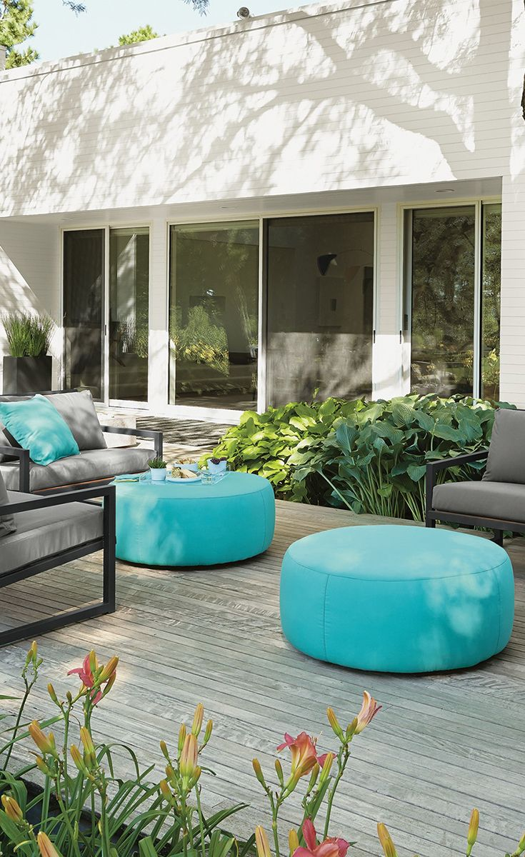 Flexible and functional, the Boyd outdoor ottoman works as an accent table or additional seating.
