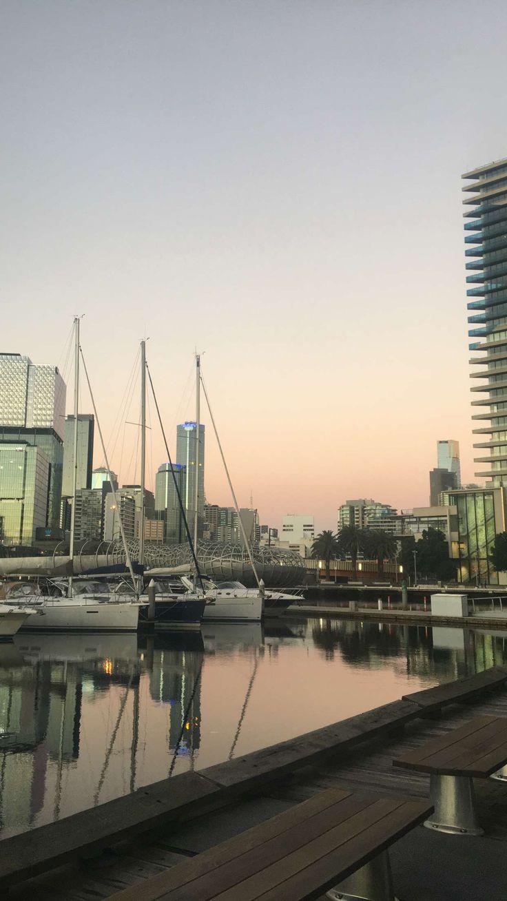 Docklands harbour at sunset.  Instagram @gypsyrose.xo