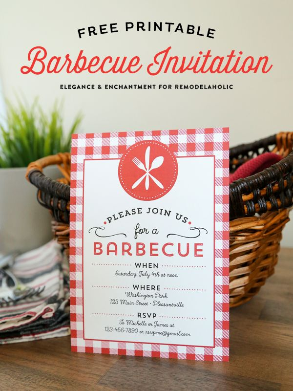 printable horse birthday party invitations free%0A Celebrate summer with a good old fashioned barbecue  Download this free  printable BBQ Invitation and