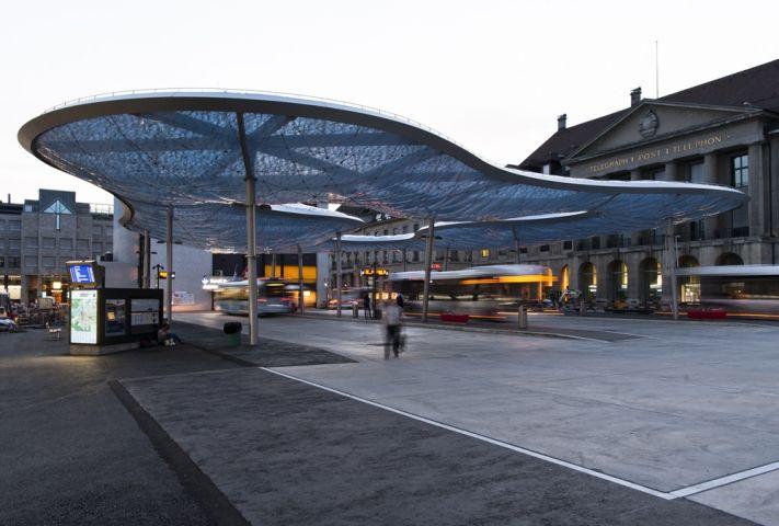Bus Station Canopy in Aarau - News - Frameweb