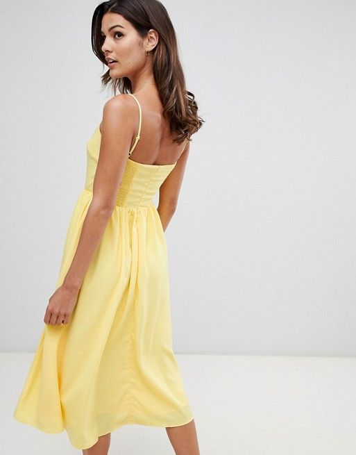 f32aafb26e9e Warehouse square neck sun dress in yellow in 2019 | Things to Wear ...