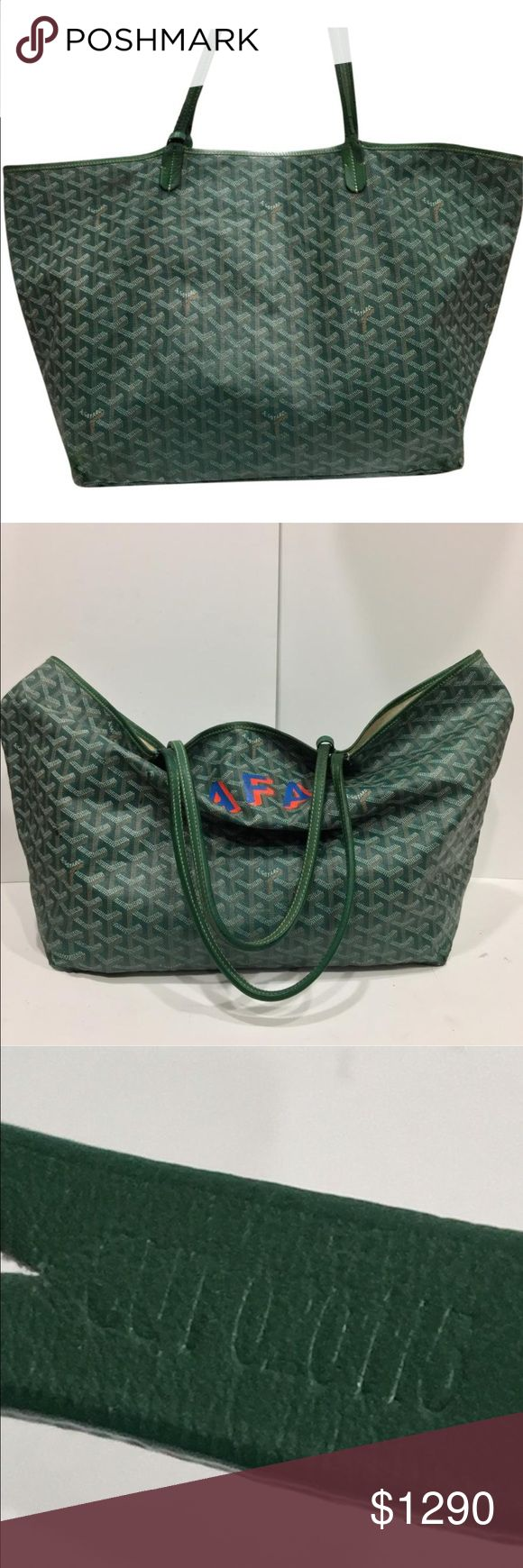 Goyard - authentic Goyard Large tote bag Freshly touched up hand painted details have been restored to as new by a local artist with a bachelors degree in fine arts from MICA for a limited time this can be painted professionally to anything you may like. Hand painted designs will take a few days longer if requested. Bag will arrive signed w/certification of the artist. 3400-5000 retail if painted for less than half that price for posters. Choose your image or enjoy the AFA monogram. Painting…