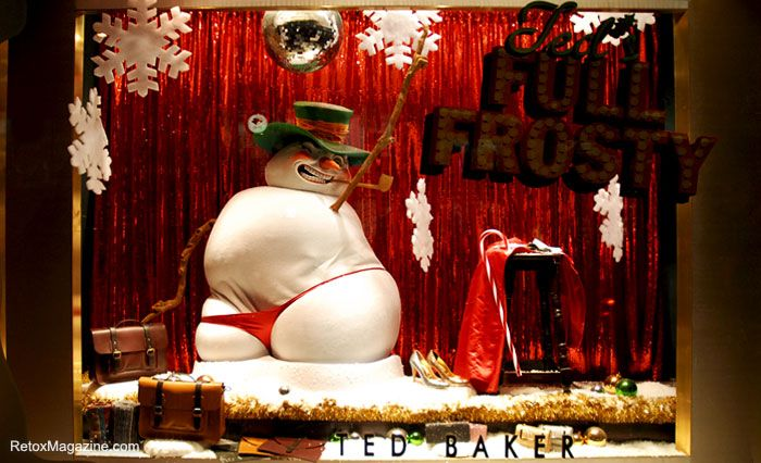 Ted Baker's Christmas Window- evil snowman in a thong!