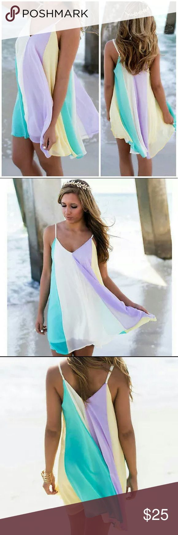 Multi Color Mini Dress New Size small Mini Dress Perfect for summer Dresses Mini