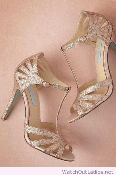 Rose gold 'Stardust' heels