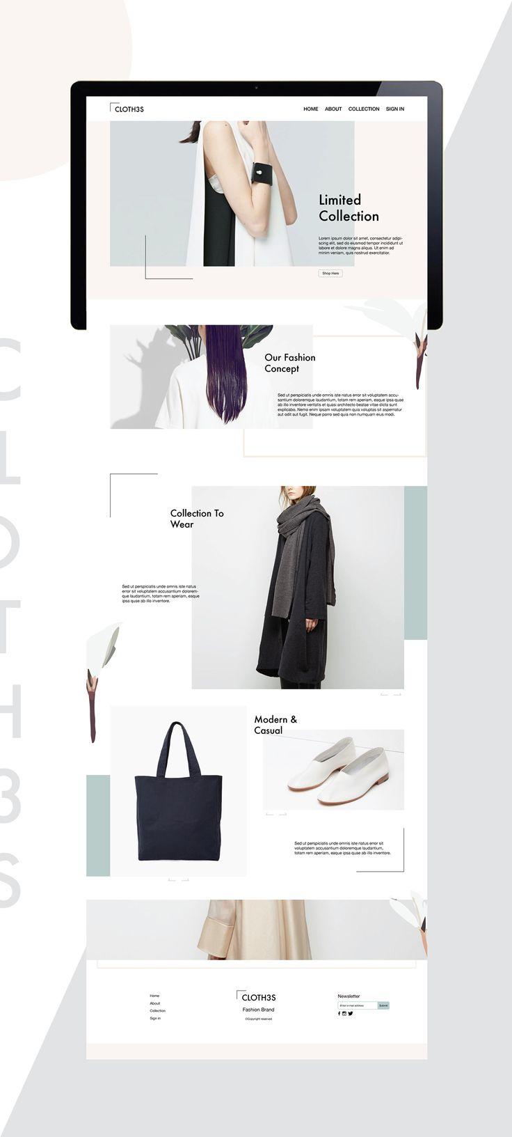 Fashion website idea on Behance